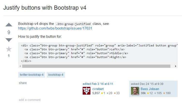 Justify buttons  utilizing Bootstrap v4