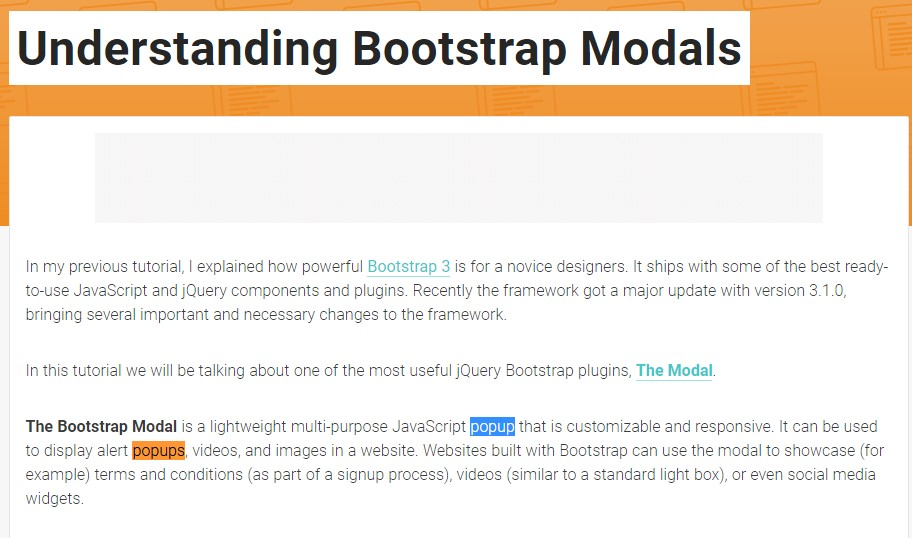 One more  valuable  content  concerning Bootstrap Modal Popup