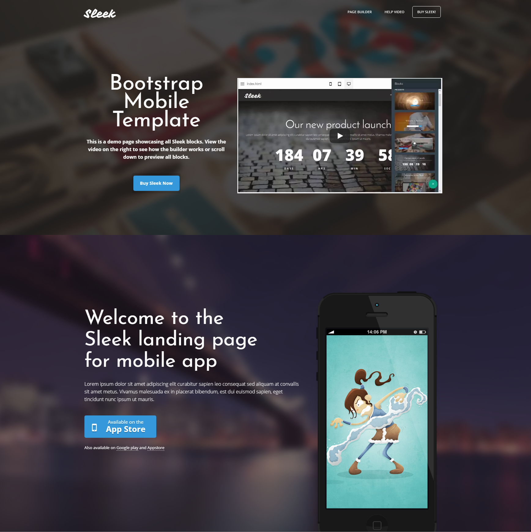 Responsive Bootstrap Mobile Themes