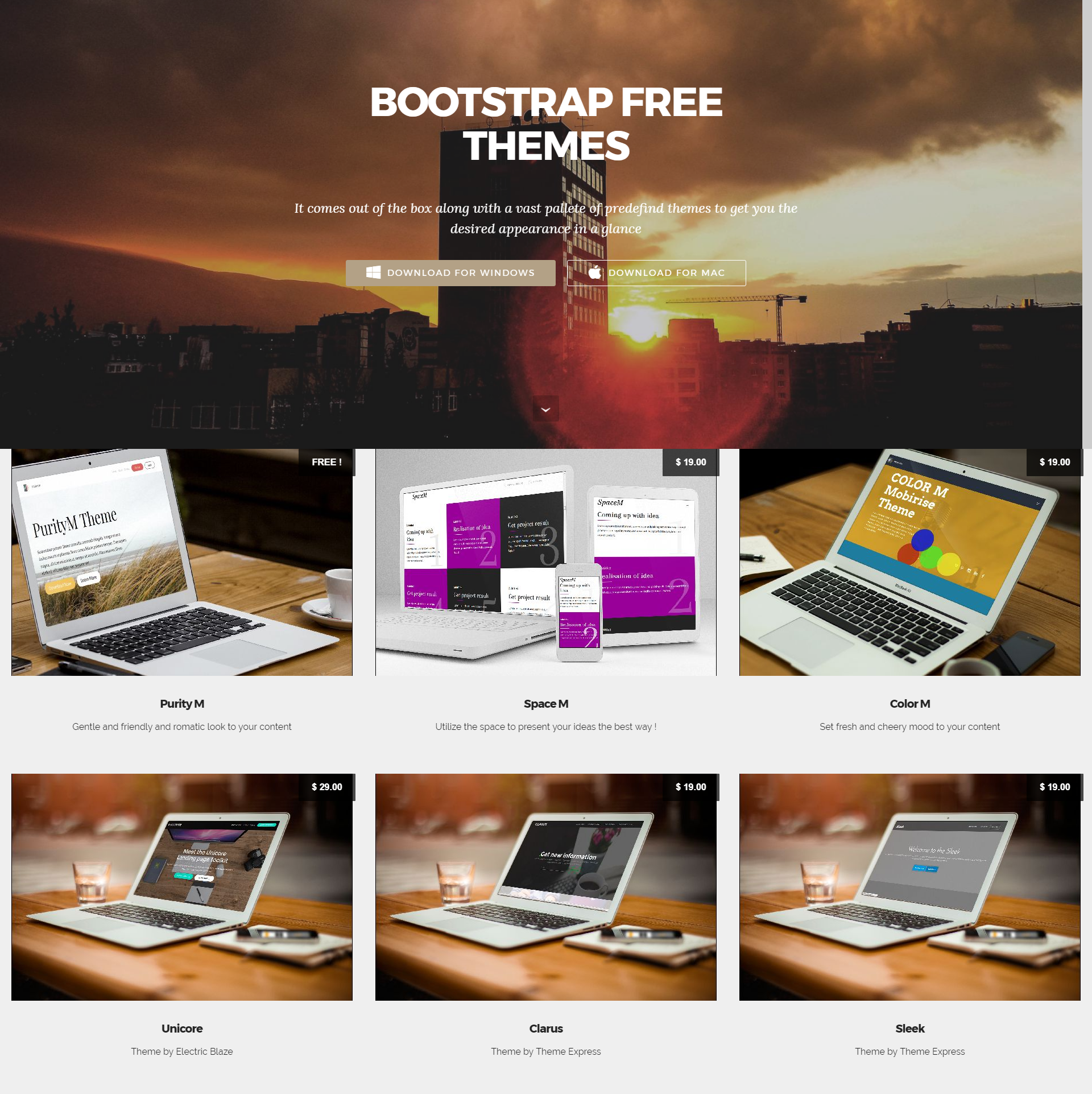 Free Download Bootstrap Mobile-friendly Templates