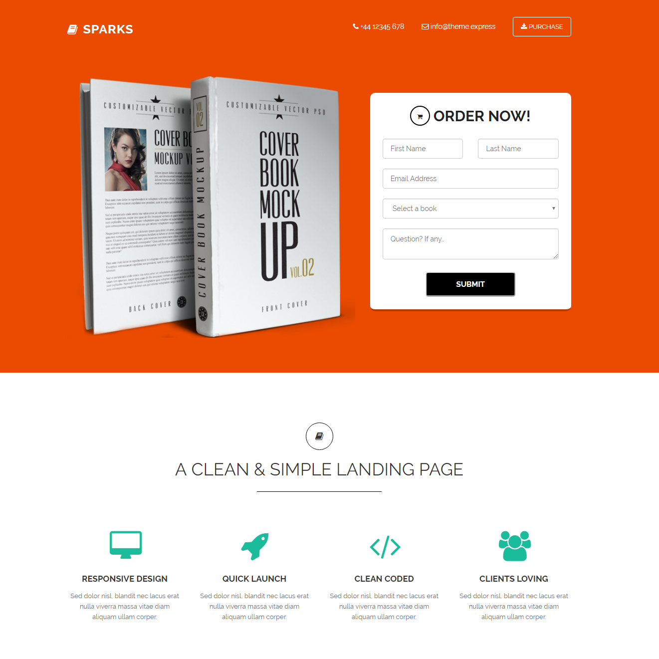 Responsive Bootstrap Sparks Templates