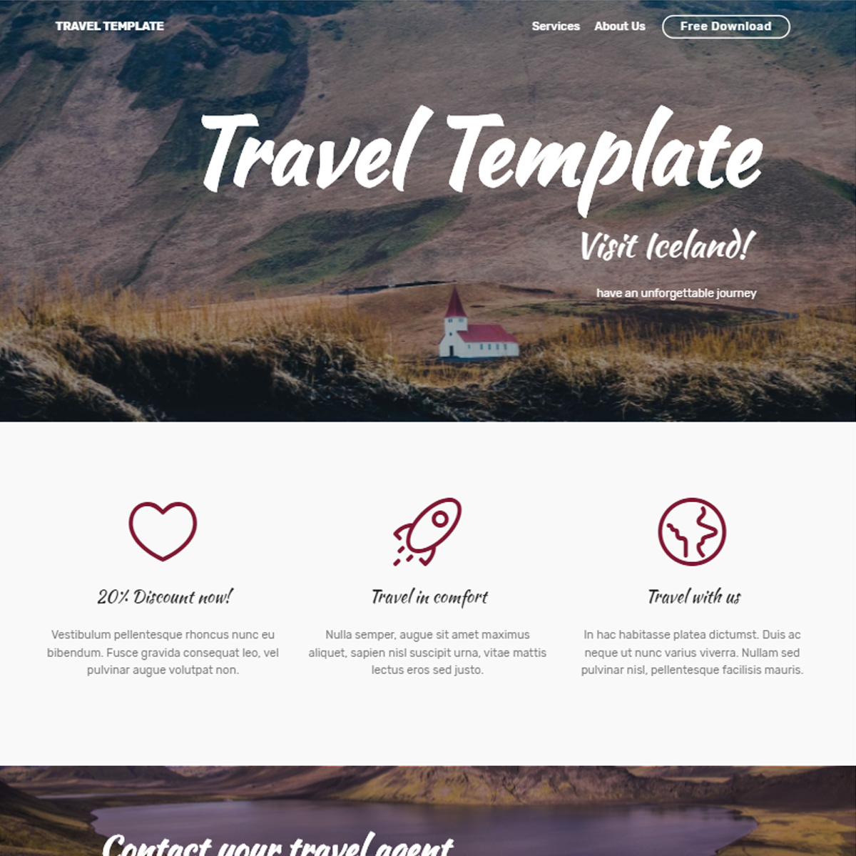 Free Bootstrap Travel Themes